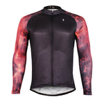 ILPALADINO Fire Flame Cool Graphic Arm Print Men's Cycling Long-sleeve Black Jerseys - Spring Summer Exercise Wear Bicycling Pro Cycle Clothing Racing Apparel Outdoor Sports Leisure Biking Shirts Team Kit Personalized Styles NO.384 -  Cycling Apparel, Cycling Accessories | BestForCycling.com