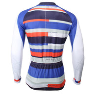 ILPALADINO   Men's Long Deep Blue Sleeves Cycling Clothing Suits with Tights Pro Cycle Clothing Racing Apparel Outdoor Sports Leisure Biking shirt (Velvet) NO.388 -  Cycling Apparel, Cycling Accessories | BestForCycling.com