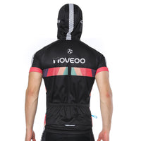 I LOVE ARDOUR ON THE WAY Black Outdoor Running Cycling Fitness Extreme Sports Mens T-shirts Hooded Short-sleeve Jacket Clothing and Riding Gear with Cap Quick dry Breathable NO. 821 -  Cycling Apparel, Cycling Accessories | BestForCycling.com