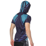 Blue Outdoor Running Cycling Fitness Extreme Sports Mens T-shirts Hooded Short-sleeve Jacket Clothing and Riding Gear with Cap Quick dry Breathable NO. 825 -  Cycling Apparel, Cycling Accessories | BestForCycling.com