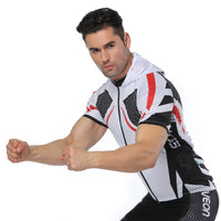 White Outdoor Running Cycling Fitness Extreme Sports Mens T-shirts Hooded Short-sleeve Jacket Clothing and Riding Gear with Cap Quick dry Breathable NO. 824 -  Cycling Apparel, Cycling Accessories | BestForCycling.com