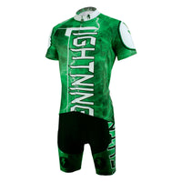 Ilpaladino Green Flashing Lightning Natural Phenomenon Cycling Short-sleeve Suit /Jersey Exercise Bicycling Pro Cycle Clothing Racing Apparel Outdoor Sports Leisure Biking Shirts Team Kit NO.627 -  Cycling Apparel, Cycling Accessories | BestForCycling.com