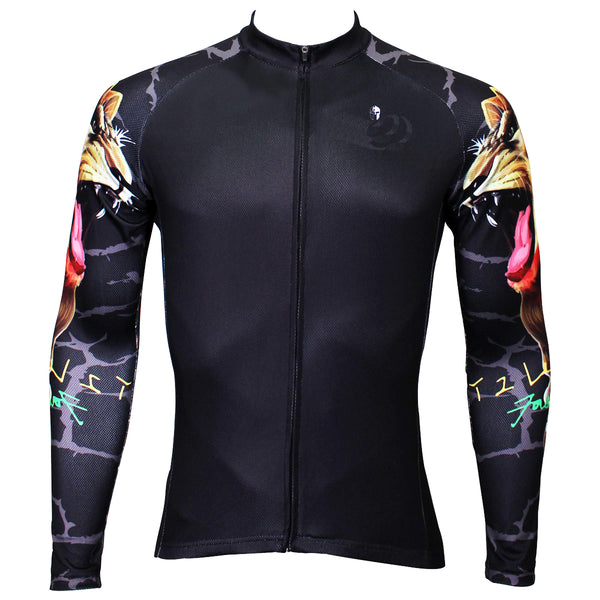 Gipsy Lion Cool Graphic Arm Print Men's Cycling Long-sleeve Black Jerseys NO.375 -  Cycling Apparel, Cycling Accessories | BestForCycling.com
