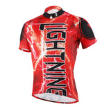Ilpaladino Flashing Lightning Natural Phenomenon Cycling Short-sleeve Suit /Jersey Exercise Bicycling Pro Cycle Clothing Racing Apparel Outdoor Sports Leisure Biking Shirts Team Kit Red NO.616 -  Cycling Apparel, Cycling Accessories | BestForCycling.com