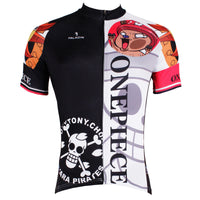 ONE PIECE Series Pirates Tony Tony Chopper Men's Cycling Jersey Team Leisure Jacket T-shirt Summer Spring Autumn Clothes Sportswear Anime Animation Manga Blue-nosed Reindeer NO.407 -  Cycling Apparel, Cycling Accessories | BestForCycling.com