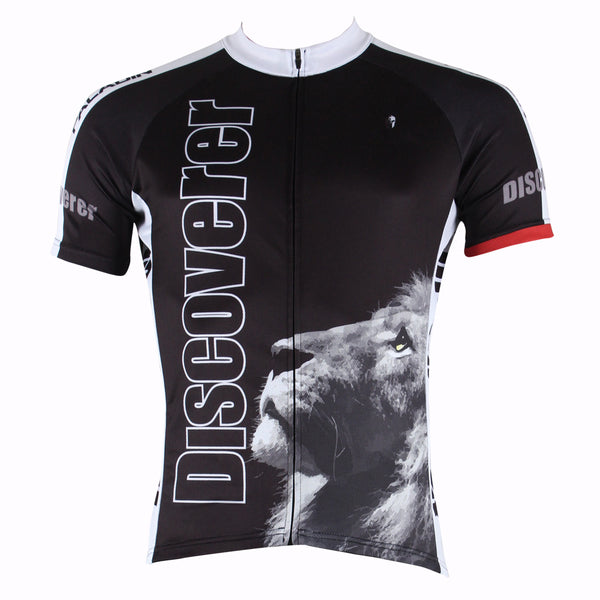 Ilpaladino Melancholic Lion Men's Breathable Quick Dry Short-Sleeve Black Cycling Jersey Bicycling Shirts Summer Sport  Upper Wear NO.301 -  Cycling Apparel, Cycling Accessories | BestForCycling.com