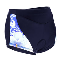 White Flowers Blue 3D Padded Cycling Underwear Shorts Bicycle Underpants Bike Biking Shorts Breathable Bicycle Pants Lightweight NO. SFK014 -  Cycling Apparel, Cycling Accessories | BestForCycling.com