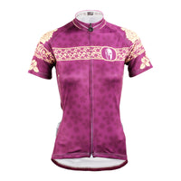 Ilpaladino Gentle Purple Flowers Summer Women's Short-Sleeve Cycling Suit Jersey Biking Shirts Breathable Outdoor Sports Gear Leisure Biking T-shirt Sports Clothes NO.631 -  Cycling Apparel, Cycling Accessories | BestForCycling.com