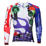 Best-seller Men's Full Zipper Blue& Red sleeves Long-sleeves Cycling Jersey for Ultraviolet-Resistant Outdoor Sport Shirt Leisure Sport Breathable and Quick Dry Fall Autumn Bike Bicycle Clothing 377 -  Cycling Apparel, Cycling Accessories | BestForCycling.com