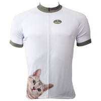 Ilpaladino Lovely Cat Simple White Men's Breathable Short-Sleeve Cycling Jersey Bicycling Shirts Summer Quick Dry Sport Wear NO.503 -  Cycling Apparel, Cycling Accessories | BestForCycling.com