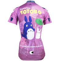 Animated Film Cartoon Character My Neighbor Totoro Day Umbrella Purple Breathable Cycling Jersey Women's Short-Sleeve Sport Bicycling Shirts Summer Quick Dry Sportswear Chinchilla NO.519 -  Cycling Apparel, Cycling Accessories | BestForCycling.com