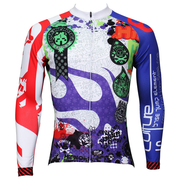 Best-seller Men's Full Zipper Blue& Red sleeves Long-sleeves Cycling Jersey for Ultraviolet-Resistant Outdoor Sport Shirt Leisure Sport Breathable and Quick Dry Fall Autumn Bike Bicycle Clothing 377(velvet) -  Cycling Apparel, Cycling Accessories | BestForCycling.com