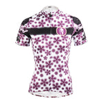Ilpaladino Purple-flower Summer Women's Quick Dry Short-Sleeve Cycling Jersey Exercise Bicycling Pro Cycle Clothing Racing Apparel Outdoor Sports Leisure Biking Shirts Breathable Sport Clothes NO.608 -  Cycling Apparel, Cycling Accessories | BestForCycling.com