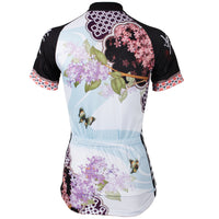 Ilpaladino Lilac Butterfly Nature Women Cycling Jerseys Short-sleeve summer Sportswear Gear Pro Cycle Clothing Racing Apparel Outdoor Sports Leisure Biking Shirt NO.544 -  Cycling Apparel, Cycling Accessories | BestForCycling.com