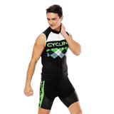 Green Black Mesh Splicing Men's Cycling Sleeveless Bike Jersey T-shirt Summer Spring Road Bike Wear Mountain Bike MTB Clothes Sports Apparel Top NO. 814 -  Cycling Apparel, Cycling Accessories | BestForCycling.com