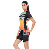 Orange Green Splicing Women's Cycling Short-sleeve Bike Jersey/Kit T-shirt Summer Spring Road Bike Wear Mountain Bike MTB Clothes Sports Apparel Top / Suit NO. 787 -  Cycling Apparel, Cycling Accessories | BestForCycling.com
