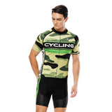 CYCLING Letter Green Camo Men's Cycling Short-sleeve Jersey/Suit Exercise Bicycling Pro Cycle Clothing Racing Apparel Outdoor Sports Leisure Biking Shirts Team Summer Kit NO.815 -  Cycling Apparel, Cycling Accessories | BestForCycling.com