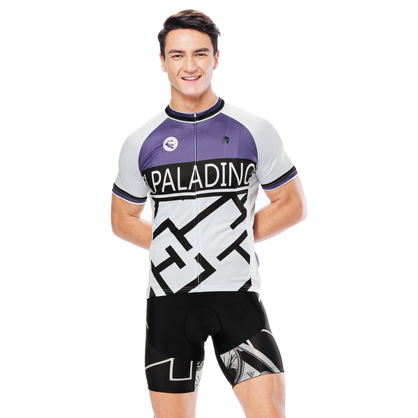 Maze Purple Men's Cycling Short-sleeve Jersey/Suit Exercise Bicycling Pro Cycle Clothing Racing Apparel Outdoor Sports Leisure Biking Shirts Team Summer Kit NO. 812