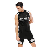 Simple Life Cool Black Men's Cycling Sleeveless Bike Jersey/Kit T-shirt Summer Spring Road Bike Wear Mountain Bike MTB Clothes Sports Apparel Top / Suit NO. 817