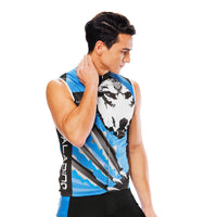 Wolverine Wolf Blue Men's Cycling Sleeveless Bike Jersey/Kit T-shirt Summer Spring Road Bike Wear Mountain Bike MTB Clothes Sports Apparel Top / Suit NO.811 -  Cycling Apparel, Cycling Accessories | BestForCycling.com