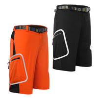 Mens Summer Quick Dry Outdoor Cycling Shorts Black/Orange #1602