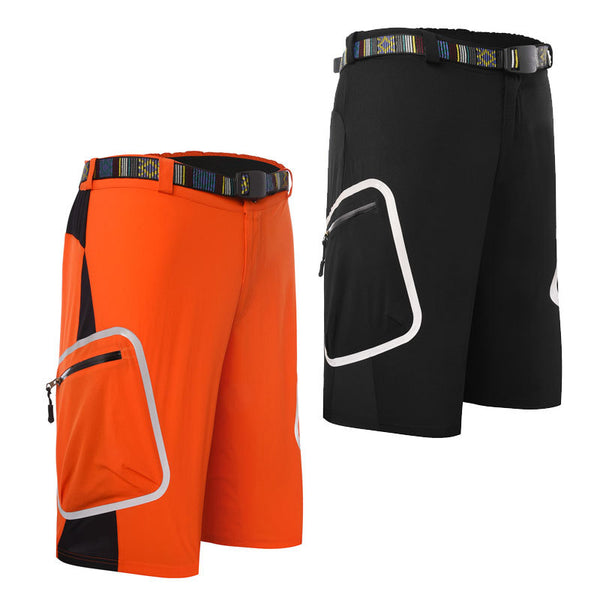 Mens Summer Quick Dry Outdoor Cycling Shorts Outdoor Bicycling Sports MTB Shorts Mountain Bike Biking Pants with Zip Pockets Black/Orange #1602 -  Cycling Apparel, Cycling Accessories | BestForCycling.com