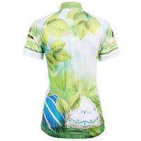 Ilpaladino Green Leaves Summer Women's Cycling Jersey Short Sleeve Exercise Bicycling Pro Cycle Clothing Racing Apparel Outdoor Sports Leisure Biking Shirts Breathable Bicycling Clothes NO.594 -  Cycling Apparel, Cycling Accessories | BestForCycling.com