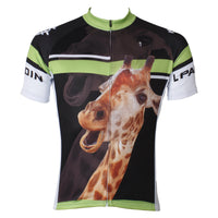 Ilpaladino Giraffe Animal Men's Breathable Quick Dry Short-Sleeve Green&Black Cycling Jersey Bicycling Shirts  Summer Sport Wear NO.562 -  Cycling Apparel, Cycling Accessories | BestForCycling.com