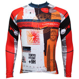 Top Men's Full-zipper Long-sleeve Cycling Jeysey Slim Fit with Red & Orange Colors Black-strip Outdoor Sport Fasion Shirt Breathable Quick Dry for Fall Autumn 379 -  Cycling Apparel, Cycling Accessories | BestForCycling.com
