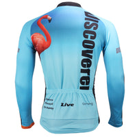 Men's Blue Full Zipper Long-sleeve Cycling Jersey for Outdoor Sport  Leisure Sport Breathable and Quick Dry Fall Autumn Bike Shirt Bicycle clothing ILPALADINO 302 -  Cycling Apparel, Cycling Accessories | BestForCycling.com