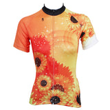 Ilpaladino Sunflower Orange Women's Quick Dry Short-Sleeve Cycling Jersey Biking Shirts Breathable Summer Sportswear Apparel Outdoor Sports Gear Leisure Biking T-shirt NO.509 -  Cycling Apparel, Cycling Accessories | BestForCycling.com
