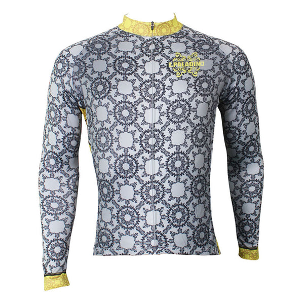 ILPALADINO Men's  Long Grey Sleeves Cycling Jerseys Suit Apparel Outdoor Sports Gear Leisure Biking T-shirt Kit (Velvet) NO.510 -  Cycling Apparel, Cycling Accessories | BestForCycling.com