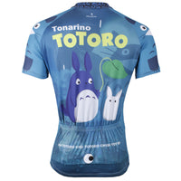 Animated Film Cartoon Character My Neighbor Totoro Rainy Day Umbrella Blue Breathable Cycling Jersey Men's Short-Sleeve Sport Bicycling Shirts Summer Quick Dry Sportswear Chinchilla NO.519 -  Cycling Apparel, Cycling Accessories | BestForCycling.com