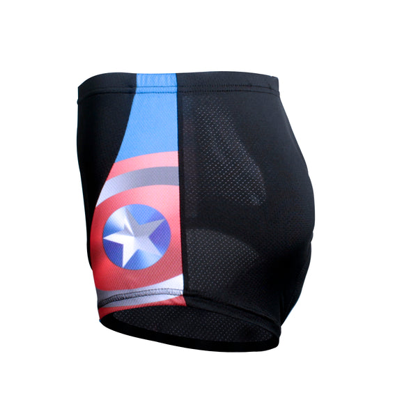ILPALADINO Captain America 3D Padded Cycling Underwear Shorts Underpants Lightweight Bike Biking Shorts Breathable Bicycle Pants Lightweight NO.CK929 -  Cycling Apparel, Cycling Accessories | BestForCycling.com