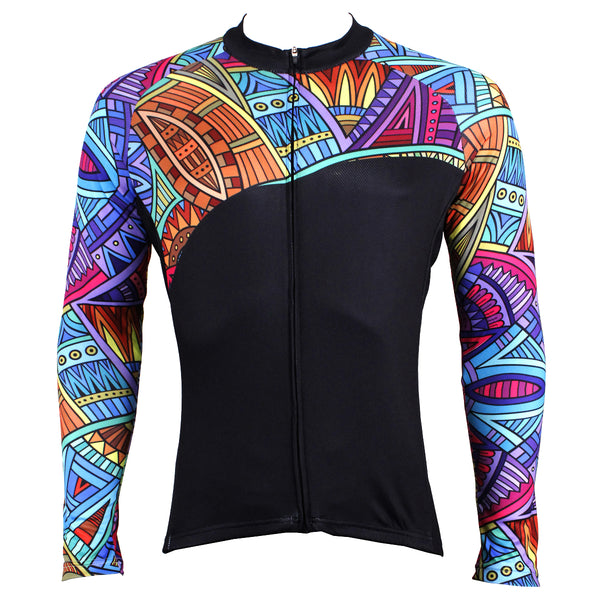 7aeb00ffb Mens Patterns Full-Zipper Stylish Long-sleeves Cycling Jersey for Winter  Outdoor Leisure Sport