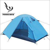 Extra Large Single-layer Curtain Aluminum Rod Pole Wild Camping Family Dome Travel Backpacking Tents with Carry Bag Outdoor Shelters Blue/Orange -  Cycling Apparel, Cycling Accessories | BestForCycling.com