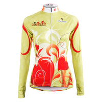 Ilpaladino Red-heart Woman's Cycling Long-sleeve Jersey Spring Autumn Sportswear Apparel Outdoor Sports Gear NO.595 -  Cycling Apparel, Cycling Accessories | BestForCycling.com