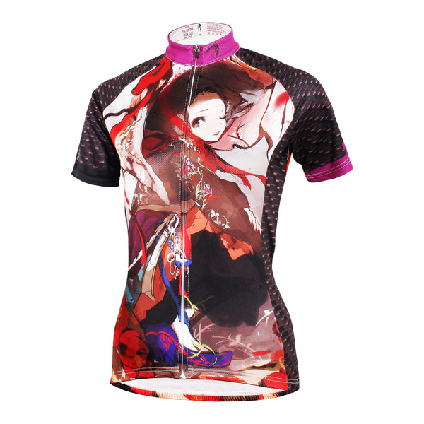 ILPALADINO ACG Animation Game Character Girl with Hat Woman's Short-Sleeve Cycling Jersey Summer Biking Wear Breathable Outdoor Sports Gear Leisure Biking T-shirt Sports Clothes NO.582 -  Cycling Apparel, Cycling Accessories | BestForCycling.com