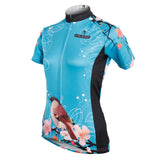 Ilpaladino Women's Peach Blossom &Magpies Cycling Jersey Short/long Sleeve Breathable Summer Bicycling Clothes Apparel Outdoor Sports Leisure Biking Shirt  NO.585 -  Cycling Apparel, Cycling Accessories | BestForCycling.com