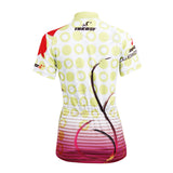Ilpaladino Red Flowers Summer Women's Short-Sleeve Cycling Jersey Biking Shirts Breathable Outdoor Sports Gear Leisure Biking T-shirt Sports Clothes NO.597 -  Cycling Apparel, Cycling Accessories | BestForCycling.com