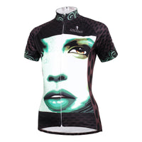 ILPALADINO Portrait Girl Model Woman's Short-Sleeve Cycling Jersey Summer Biking Wear Breathable Outdoor Sports Gear Leisure Biking T-shirt Sports Clothes NO.591 -  Cycling Apparel, Cycling Accessories | BestForCycling.com