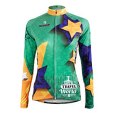 Women MTB Jerseys TRAVEL THE WORLD Yellow Golden Star Green Women Cycling Jerseys 596 -  Cycling Apparel, Cycling Accessories | BestForCycling.com