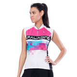 Pink Blue Mosaic Women's Cycling Sleeveless Bike Jersey T-shirt Summer Spring Road Bike Wear Mountain Bike MTB Clothes Sports Apparel Top NO. 788 -  Cycling Apparel, Cycling Accessories | BestForCycling.com