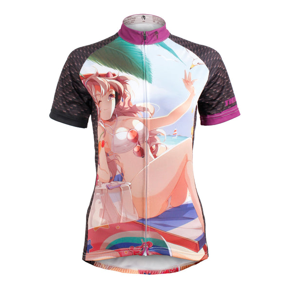 ILPALADINO ACG Animation Game Character Girl Bikini Holiday Woman's Short-Sleeve Cycling Jersey Summer Biking Wear Breathable Outdoor Sports Gear Leisure Biking T-shirt Sports Clothes NO.602 -  Cycling Apparel, Cycling Accessories | BestForCycling.com