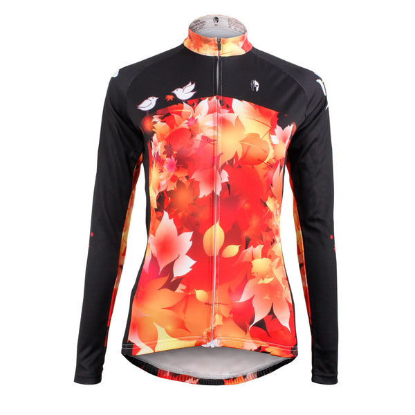 ILPALADINO Passion Maple Leaf Summer Women's Long-Sleeve Cycling Jersey Biking Shirts Breathable Outdoor Sports Gear Leisure Biking T-shirt Sports Clothes NO.603 -  Cycling Apparel, Cycling Accessories | BestForCycling.com
