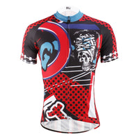 ILPALADINO Injury Rock Skull Red Sport Shirt Cycling Short Sleeve Jersey Exercise Bicycling Pro Cycle Clothing Racing Apparel Outdoor Sports Leisure Biking Shirts 615 -  Cycling Apparel, Cycling Accessories | BestForCycling.com