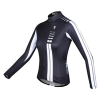 Woman White striped Black Cool Short/long-sleeve Cycling Jersey Cycle Clothing Racing Apparel  NO.646 -  Cycling Apparel, Cycling Accessories | BestForCycling.com