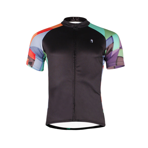 Ilpaladino Colorful Arms Breathable Black Jersey Men's Short-Sleeve Bicycling Shirts Summer Apparel Outdoor Sports Gear Quick Dry Wear NO.662 -  Cycling Apparel, Cycling Accessories | BestForCycling.com
