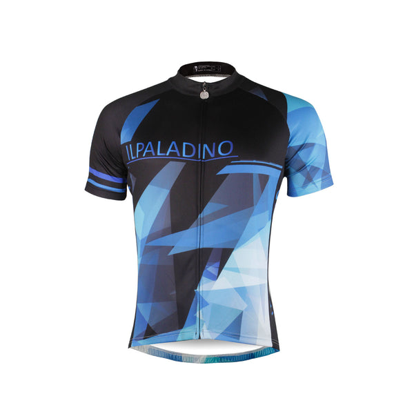 Ilpaladino Fragment Sport Breathable Black&Blue Jersey Men's Short-Sleeve Bicycling Shirts Summer Apparel Outdoor Sports Gear Quick Dry Wear NO.690 -  Cycling Apparel, Cycling Accessories | BestForCycling.com