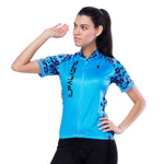 Flower-shoulder Side Blue Women's Cycling Short-sleeve Bike Jersey T-shirt Summer Spring Road Bike Wear Mountain Bike MTB Clothes Sports Apparel Top NO. 804 -  Cycling Apparel, Cycling Accessories | BestForCycling.com